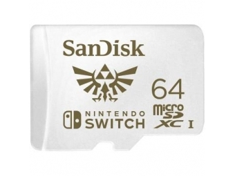 Sandisk microSDXC Nintendo Switch 64GB 100/60MB/s A1 C10 V30 UHS-1 U3