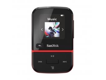 SanDisk MP3 Clip Sport GO 32 GB červená