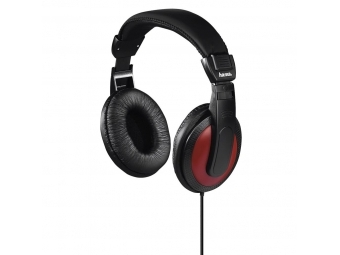 Hama 184012 slúchadlá Basic4Music, uzavreté, čierna/červená