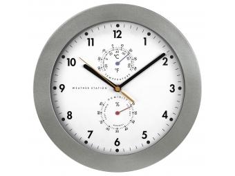Hama 186344 PG-300, nástenné hodiny, riadené rádiovým signálom, s analógovým teplomerom/vlhkomerom