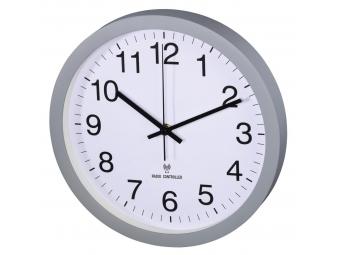 Hama 186359 PG-300, nástenné hodiny riadené rádiovým signálom, tichý chod, šedé