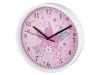 Hama 186377 Crown detské nástenné hodiny, priemer 22,5 cm, tichý chod