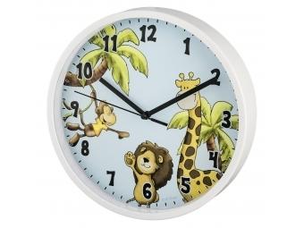 Hama 186378 Safari detské nástenné hodiny, priemer 22,5 cm, tichý chod