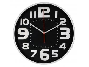 Hama 186382 Emotion, nástenné hodiny, priemer 30 cm, tichý chod, kefovaný hliník (obruba/číslice)