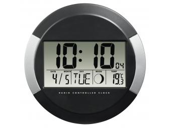 Hama 186383 PP-245, digitálne nástenné hodiny riadené rádiovým signálom DCF