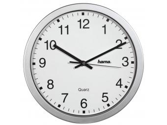 Hama 186411 CWA100, nástenné hodiny, strieborné