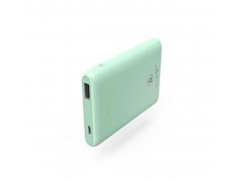 Hama 188314 SLIM 5HD, powerbanka, 5000 mAh, mätovo zelená