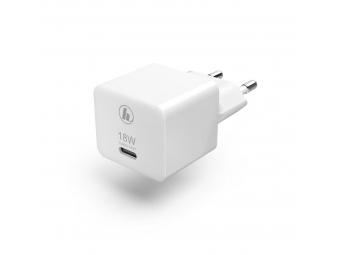 Hama 188350 rýchla USB nabíjačka, USB-C, QC 3.0 / PD, 18 W, kompaktná, biela