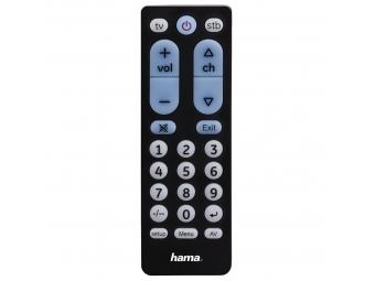 Hama 40072 univerzálny diaľkový ovládač Big Zapper, 2v1, kompaktný