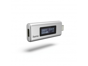Hama 54178 USB-C indikátor nabíjania, napätie/ prúd/ kapacita