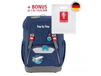 Step by Step školský ruksak GRADE vesmírna raketa + BONUS Dosky na zošity