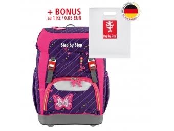 Step by Step školský ruksak GRADE Trblietavý motýľ + BONUS Dosky na zošity