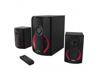 Hama 173139 2.1 Sound systém PR-2180, čierna/červená