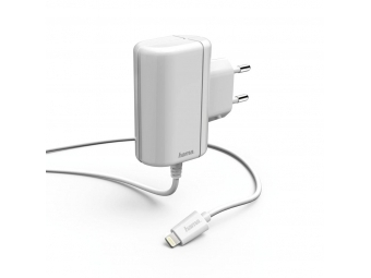 Hama 178262 nabíjačka s káblom, Apple Lightning, MFI, 2,4 A, biela