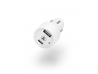Hama 183322 rýchla USB nabíjačka do vozidla, USB-C + USB-A, QC 3.0 / PD, 42 W