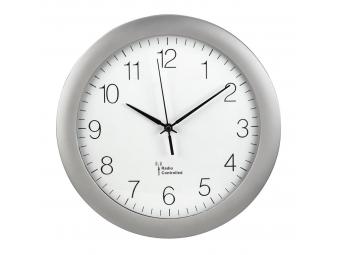 Hama 186337 PG-300, nástenné hodiny riadené rádiovým signálom, strieborné