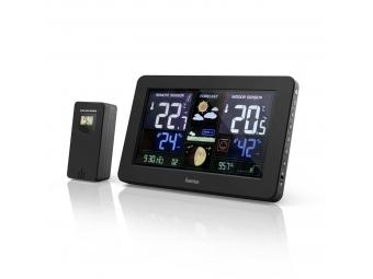 Hama 186380 Premium, meteostanica s farebným displejom a nabíjacou funkciou USB