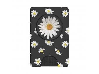 PopSockets PopWallet+ White Daisy, puzdro na karty/vizitky a pod. s integrovaným PopGrip Gen.2