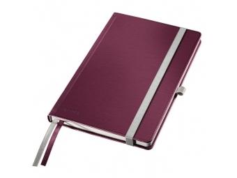 Leitz Zápisník linajkový A5 Style tvrdé dosky granátový červený