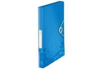 Leitz Box plastový s gumičkou WOW metalický modrý