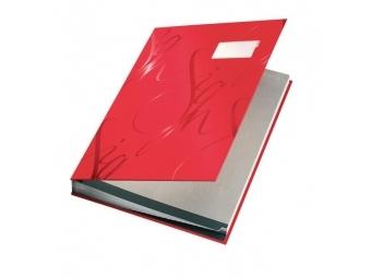 Leitz Kniha podpisová designová červená