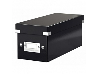 Leitz Škatuľa archívna na CD Click-Store so sklápacím vekom čierna