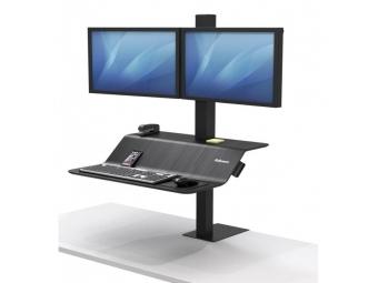 Fellowes Stojan polohovateľný Sit-Stand Lotus VE pre 2 monitory