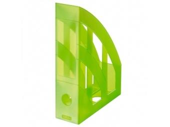 Herlitz Stojan na časopisy transparentný zelený