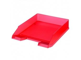 Herlitz Odkladač transparentný červený
