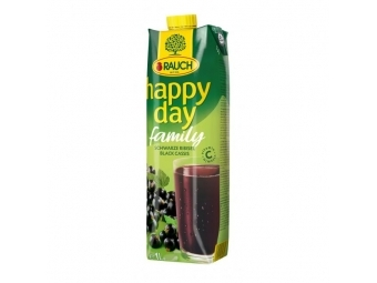 Rauch Džús Happy Day Čierna ríbezľa 25% 1l