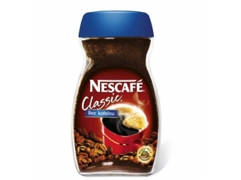 Nescafé Káva CLASSIC bez kofeínu instantná 100g