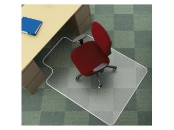 Q-CONNECT Podložka pod stoličku na koberce v tvare T 134x114,3cm