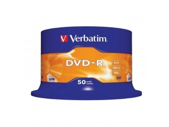Verbatim DVD-R 16x 4,7GB cake (bal=50ks)