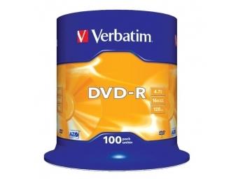 Verbatim DVD-R 16x 4,7GB cake (bal=100ks)