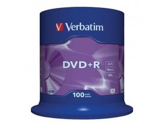 Verbatim DVD+R 16x 4,7GB cake (bal=100ks)
