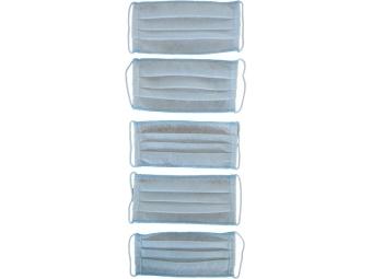 Rúško textilné antibakteriálne na opakované použitie s gumičkou (bal=5ks)