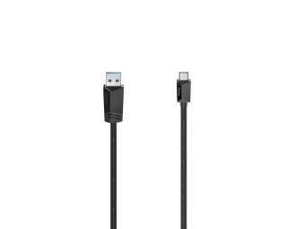 Hama 200651 kábel USB-C 3.2 Gen1 typ A-C 0,75 m, čierny