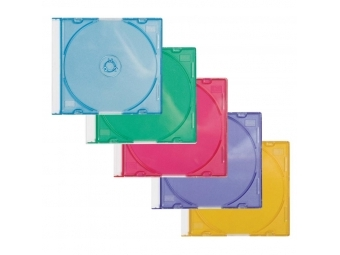 Q-CONNECT Farebné obaly na CD/DVD (bal=25ks)