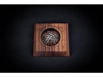 CEFERINO stojan na drobnosti drevený malý,orech