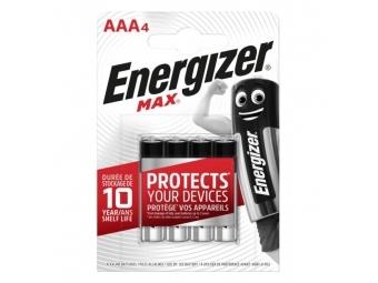 Energizer Batéria alkalická Max 1,5 V, typ AAA (bal=4ks)