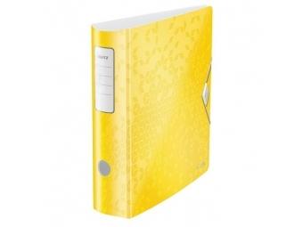 Leitz Zakladač pákový 180° Active WOW 8,2cm žltý