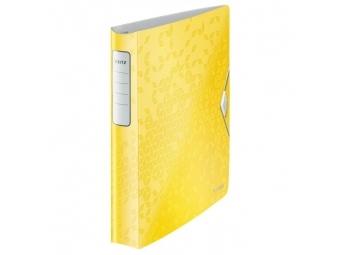 Leitz Zakladač 4-krúžkový Active WOW celoplastový 5,2cm žltý