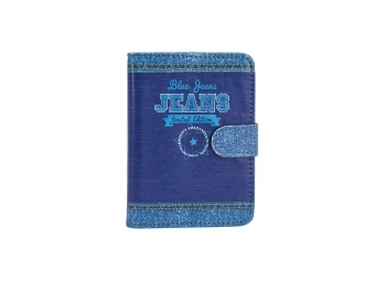 Argus Obal na doklady 9,5x13,3cm, dizajn Blue jeans