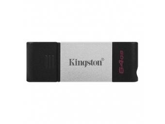 Kingston USB 3.2 DataTraveler 80 64GB USB-C (200MB/s čítanie , 60MB/s zápis)
