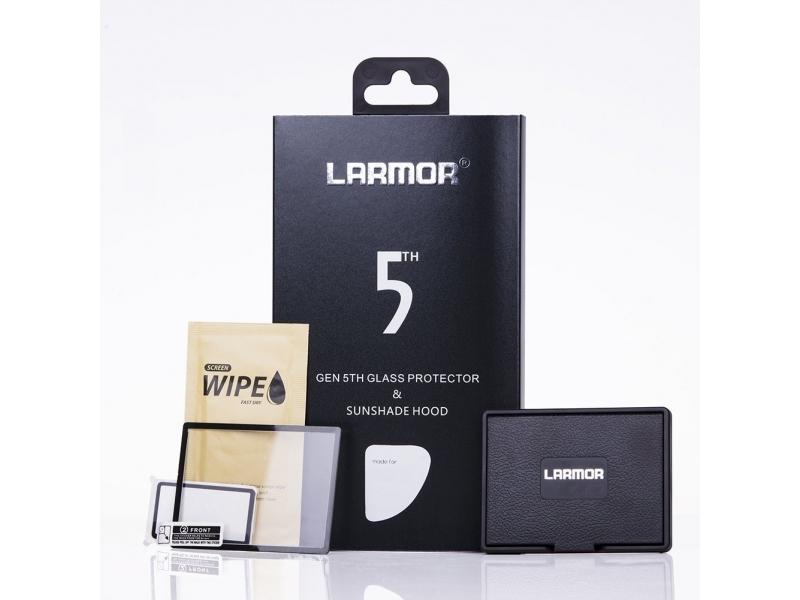 Larmor ochranné sklo na displej 5. generace pre Canon 7D II + slnečná clona na displej s magnetickým uchytením