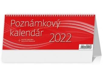 Kalendár 2022 POZNÁMKOVÝ OFFICE stolový, týždenný, stĺpcový, 246x96mm