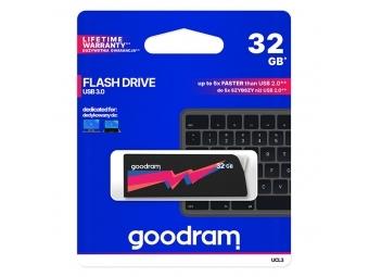 GOODRAM USB kľúč UCL3 32GB, USB 3.0 (3.2 Gen 1), čierny